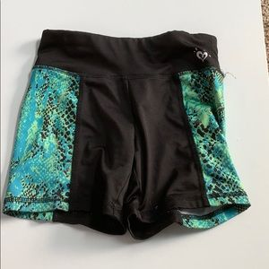 Justice tight and flexible shorts